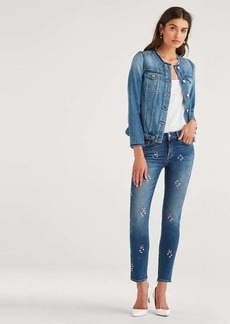 7 For All Mankind Denim Jacket in Mid Blue