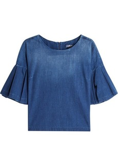 7 For All Mankind Denim Top with Flared Sleeves