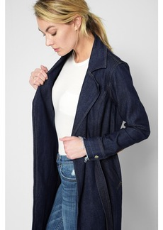 Denim Trench Coat in Luxe Lounge Deep Blue