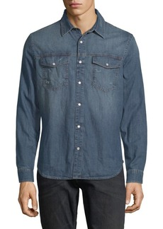 7 For All Mankind Denim Trucker Button-Down Shirt
