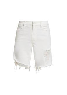 7 For All Mankind Distressed Boyfriend Denim Shorts