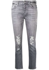 7 For All Mankind distressed cropped jeans