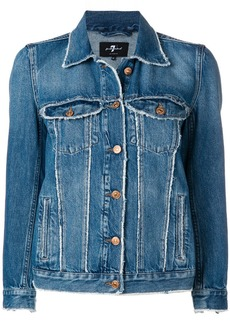 7 For All Mankind distressed hem denim jacket