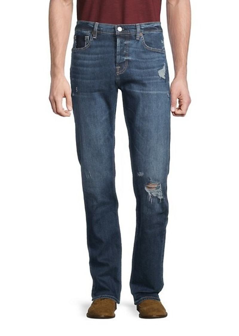 7 For All Mankind Distressed Slim-Fit Jeans