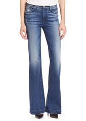 7 For All Mankind Dojo Tailorless Distress Flared Jeans