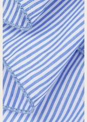 7 For All Mankind Donni Charm Donni Ace Scarf in Blue Stripe