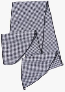 7 For All Mankind Donni Denim Gigi Cotton Necktie in Black Mini Gingham