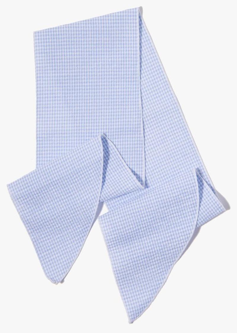 7 For All Mankind Donni Denim Gigi Cotton Necktie in Sky Mini Gingham
