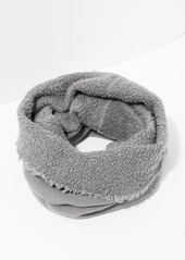 7 For All Mankind Donni Poodle Tube Scarf in Heather Grey