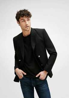 7 For All Mankind Double Breasted Blazer in Black