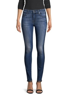 7 For All Mankind Double Racing Stripe Ankle Jeans