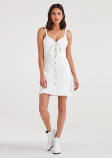 7 For All Mankind Double Tie Dress in White Runaway