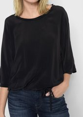 7 For All Mankind Drawstring Oversize Tee in Black