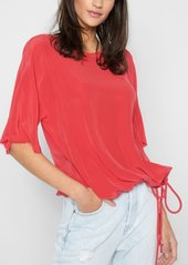 7 For All Mankind Drawstring Oversized Tee in Poppy