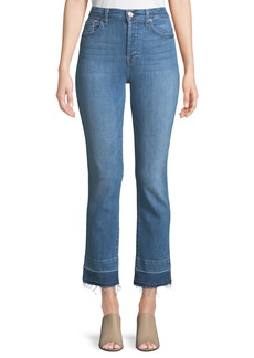 7 For All Mankind Edie Flare-Cuff Released Hem Jeans