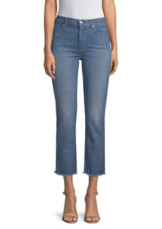 7 For All Mankind Edie Frayed Cropped Jeans