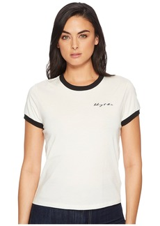 """7 For All Mankind Embroidered Baby Ringer Tee """"Taking It All In"""""""