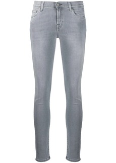7 For All Mankind faded skinny style jeans