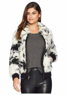 7 For All Mankind Faux Fur Curly Lamb Bomber