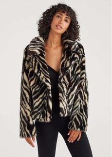 7 For All Mankind Faux Fur Jacket in Zebra