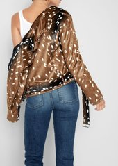 7 For All Mankind Faux Fur Moto Jacket in Fawn