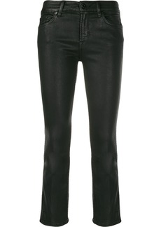 7 For All Mankind faux leather cropped trousers