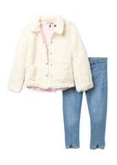 7 For All Mankind Faux Shearling Jacket 3-Piece Set (Toddler Girls)