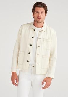 7 For All Mankind Field Jacket in Ecru