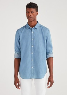 7 For All Mankind First Class Cut Away Collar Shirt in Bright Indigo