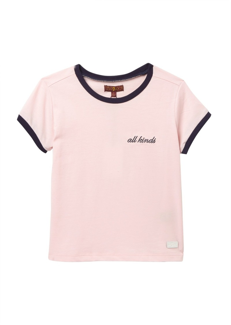 7 For All Mankind Fitted T-Shirt (Big Girls)