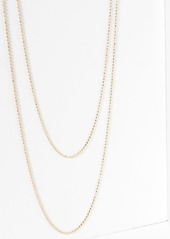 7 For All Mankind Five and Two Camille Necklace in Gold