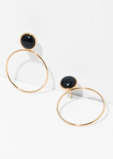 7 For All Mankind Five and Two Layla Earrings in Onyx