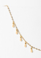 7 For All Mankind Five and Two Willa Necklace in Gold
