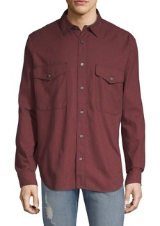 7 For All Mankind Flap Pocket Cotton Shirt