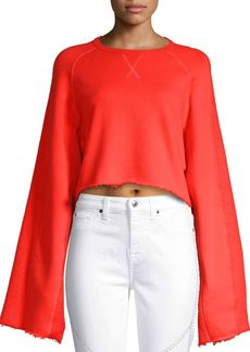 7 For All Mankind Flare Sleeve Sweatshirt