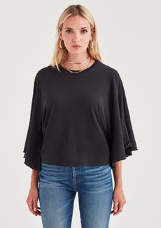 7 For All Mankind Flare Sleeve Tee in Black