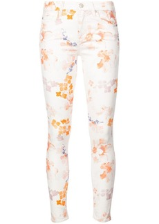 7 For All Mankind floral print skinny trousers