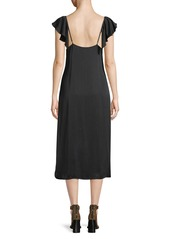 7 For All Mankind Flutter-Sleeve Midi-Length Slip Dress