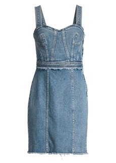 7 For All Mankind Fray Denim Sheath Dress
