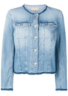 7 For All Mankind frayed denim jacket
