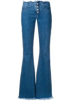 7 For All Mankind frayed edges flared jeans