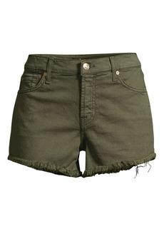 7 For All Mankind Frayed Hem Cut-Off Shorts