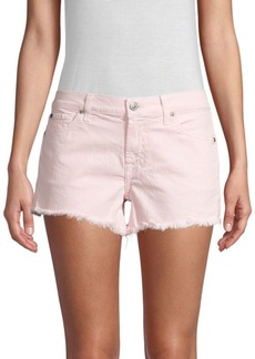 7 For All Mankind Frayed Hem Cut-Off Shorts