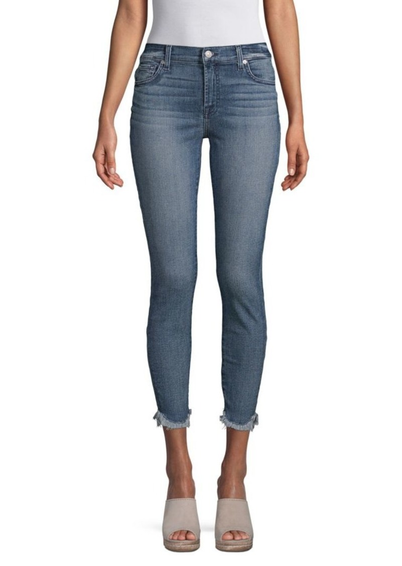 7 For All Mankind Frayed Skinny Jeans