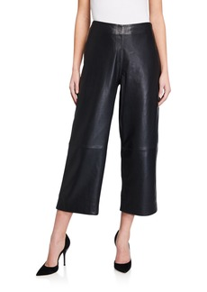 7 For All Mankind Genuine Leather Wide Leg Pants