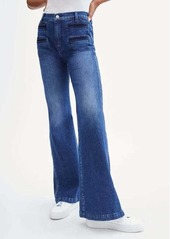 7 For All Mankind Georgia With Pleated Pocket in Dark Winona