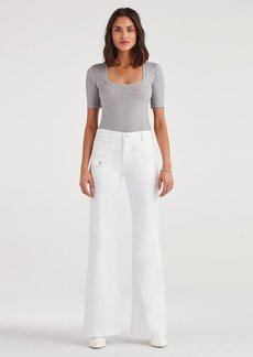7 For All Mankind Georgia in White Runway Denim