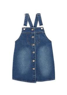 7 For All Mankind Girl's Denim Dress Overalls