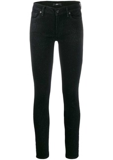 7 For All Mankind glitter slim fit trousers