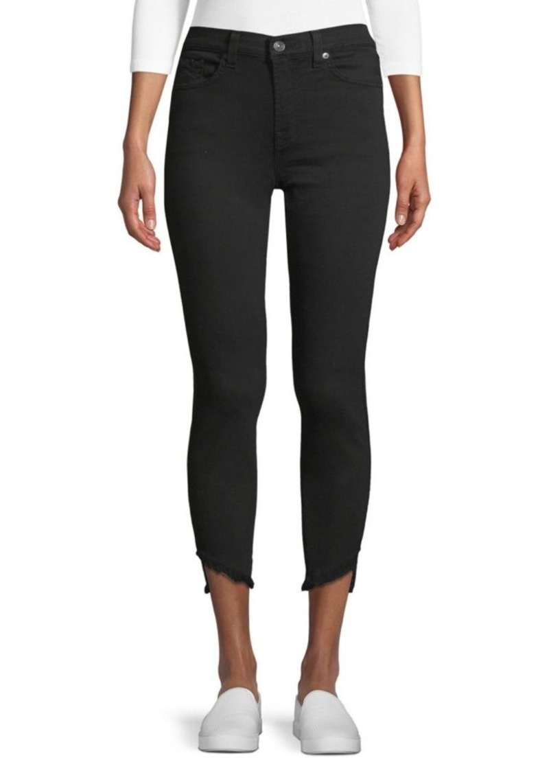 7 For All Mankind Gwen Frayed Cuff Ankle Jeans